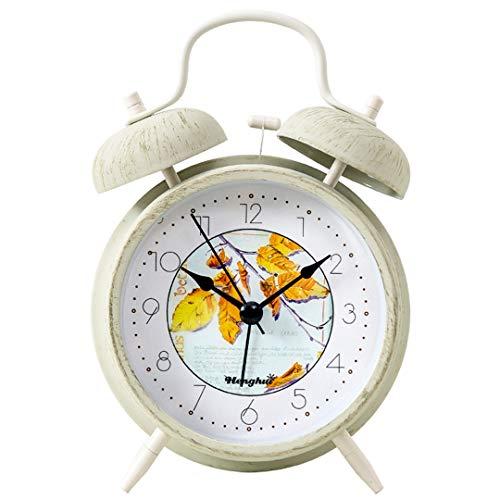 Kinder Stille Wecker Nachtlicht am Bett Musik Weckuhr Netter Mini-Reisewecker Silent Desk Wecker Geschenk für Jungen Mädchen,A