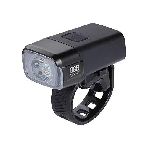 BBB Fahrradlicht NanoStrike USB wiederaufladbarer Frontscheinwerfer | MTB Urban Road 600 Lumen BLS-161, Schwarz