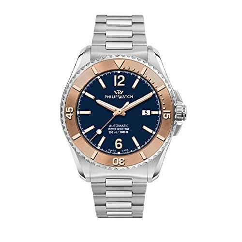 Philip Watch Orologio Uomo, Collezione AMALFI, Automatico, Tempo e data - R8223218004
