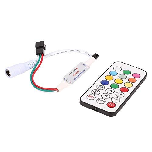 NOBRAND Unibell Mini 21 Keys IR Remoto inalámbrico Controller for WS2811 WS2812B LED Luces de Tira DC 5-24 V