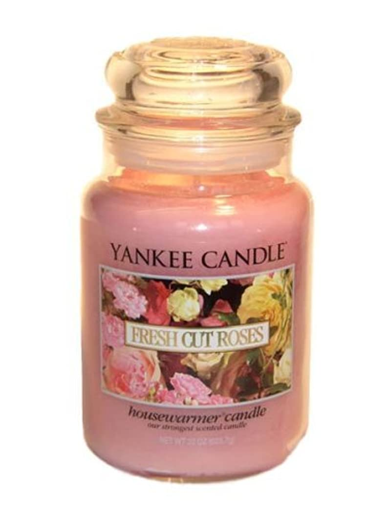 もう一度マルクス主義者罪Yankee Candle Large 22-Ounce Jar Candle, Fresh Cut Roses [並行輸入品]