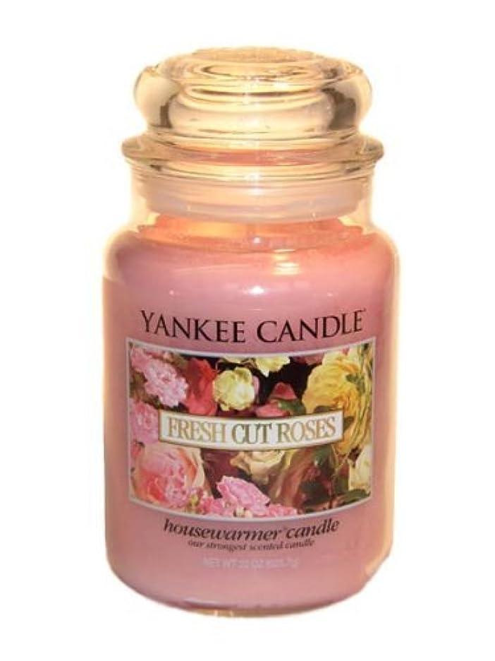 協力演じる結果としてYankee Candle Large 22-Ounce Jar Candle, Fresh Cut Roses [並行輸入品]