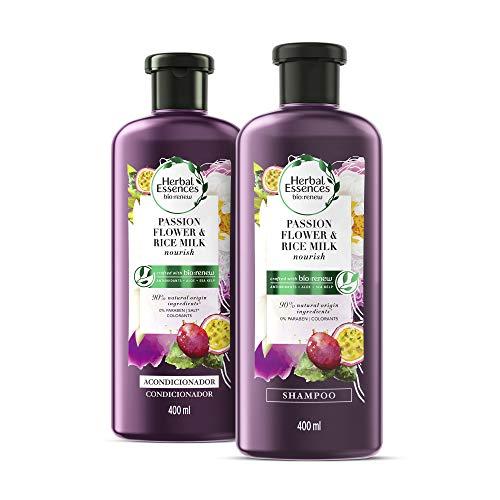 Herbal Essences Bíorenew Shampoo + Acondicionador Passion Flower & Rice Milk 400 ml c/u