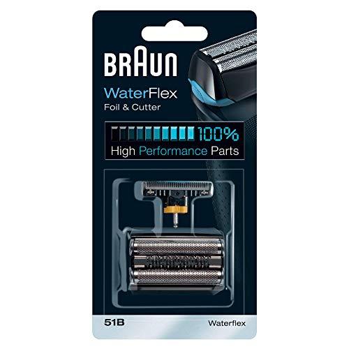 Braun 51B - Recambio para afeitadora eléctrica hombre, compatible con el modelo WaterFlex, color negro