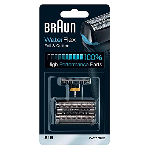 Braun Shaver Replacement Part 51B, Compatible with WaterFlex Shavers, Black