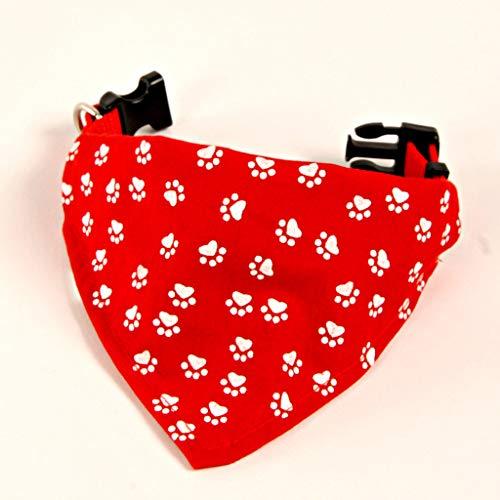 3Pagen Hunde Halsband mit Halstuch Hunde Welpen Tuch Halstuch verstellbar 25 bis 45cm