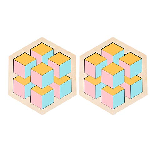 Puzzle Teile Spielzeug Kreative, Puzzle für Kinder Puzzles, Geschenk für Familie, Puzzle für Lernspielzeug, Kinderpuzzle Puzzleteile Erwachsene Holzspielzeug Kindergarten Desktop Varieté Puzzle