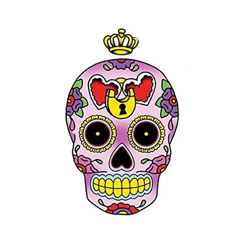 YLZH Etiqueta engomada del coche del color 8.2CM* 13.5CM reflexiva princesa corazón azúcar cráneo coche etiqueta etiqueta engomada del logotipo de PVC