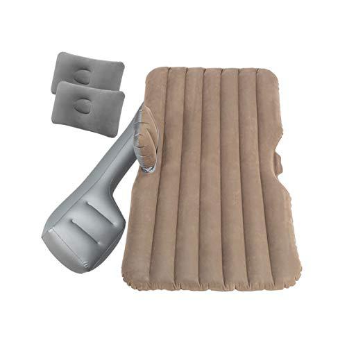 LXUXZ Colchón Inflable,colchón De Viaje Inflable, Colchoneta De Camping Portátil para Acampar Adecuado para Viajes De Campamento (Color : Gray, Size : 138x85cm)