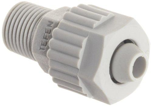 Tefen Fiberglass Polypropylene Compression Tube Fitting, Adapter, Gray, 1/4