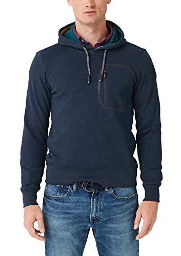 s.Oliver Herren 13.907.41.2816 Sweatshirt, Blau (Fresh Ink 5952), X-Large (Herstellergröße: XL)