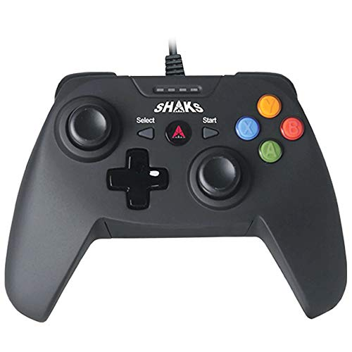 Shaks S0 Wired Game Controller Gamepad for PC (Windows 10/8/7),PS3, Android & Steam, 6.5ft USB cable