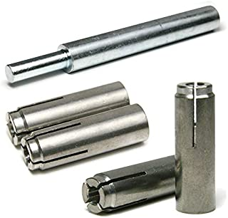 Stainless Steel Concrete & Stone Drop in Female Expansion Anchors with Setting Tool 1/4