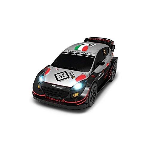 WRC- Ford Fiesta Coche para circuitos Slot Luces led, Color único (91201)