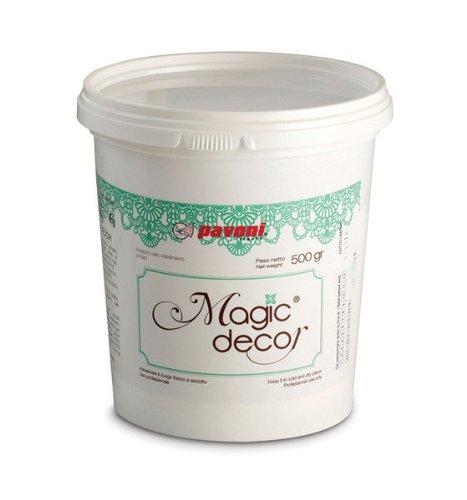 Magische Dekor Zuckerguss Mix für die herstellung essbare spitze 500g - für den einsatz mit Pavoni Spitze Matten für erstellen essbare Spitze Kuchen und Törtchen Abdeckungen