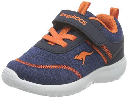 KangaROOS KY-Chummy EV Sneaker, Dark Navy/Neon Orange 4131, 23 EU