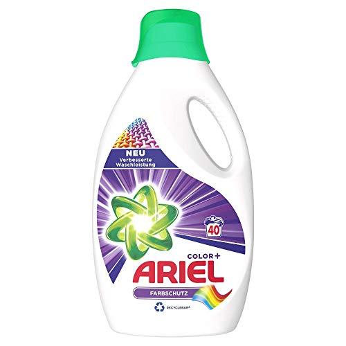 Ariel Waschmittel Flüssig, Flüssigwaschmittel, Color Waschmittel, 40 Waschladungen, Farbschutz (2.2 L)