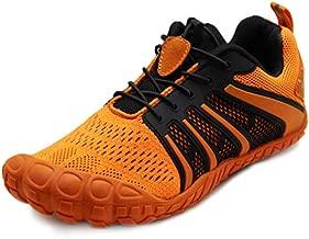 Oranginer Unisex Mens Womens Barefoot Minimalist Shoes Workout Running Weightlifting Shoes Gym Shoes Orange for Men Size 9.5 Women Size 10.5