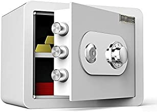 HTTBXG Safes 35 cm Mechanical Password Deposit Box, with Key Mini Invisible Bedside Code Safes Office All-Steel Anti-Theft...