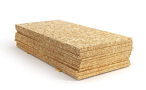 OSB3 Grobspanplatte Spanplatte Platten Grobspanplatte OSB Verlegeplatte Holzplatte Feuchtraum-geeignet (22mm, 125 x 80 cm)