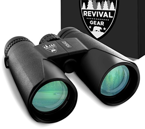 E Tronic Edge Binoculars for Adults - 10x42 Professional Binoculars for Bird Watching, Hunting, Hiking & Travel - Compact Binoculars for Men and Women - Strap and Case Included