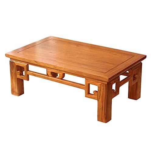 Teetisch Erker Kleiner Couchtisch Tatami Kleiner Tisch japanischer Tatami niedriger Tisch Erker Tisch chinesischer Tisch (Color : Brown, Size : 70 * 45 * 30cm)
