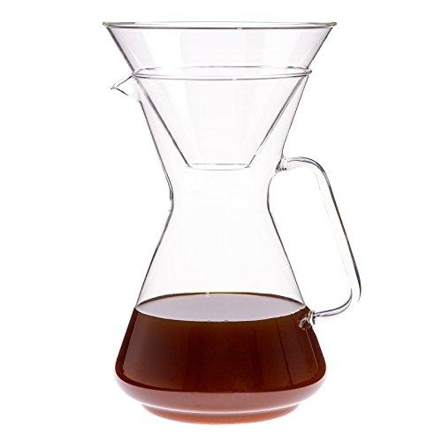 Trendglas Jena Kaffeebereiter BRASIL für 8 Tassen mit Glas-Filterhalter, 1,2 Liter