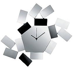 Alessi Aleesi MT19 Stanza Scirocco Wall Clock, Silver
