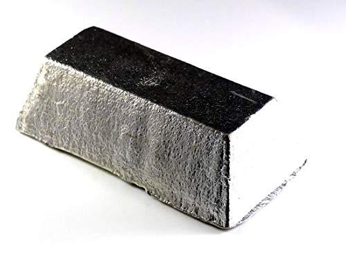 Tin Ingot (4 pounds | 99.9+% Pure) Raw Tin Metal by MS MetalShipper