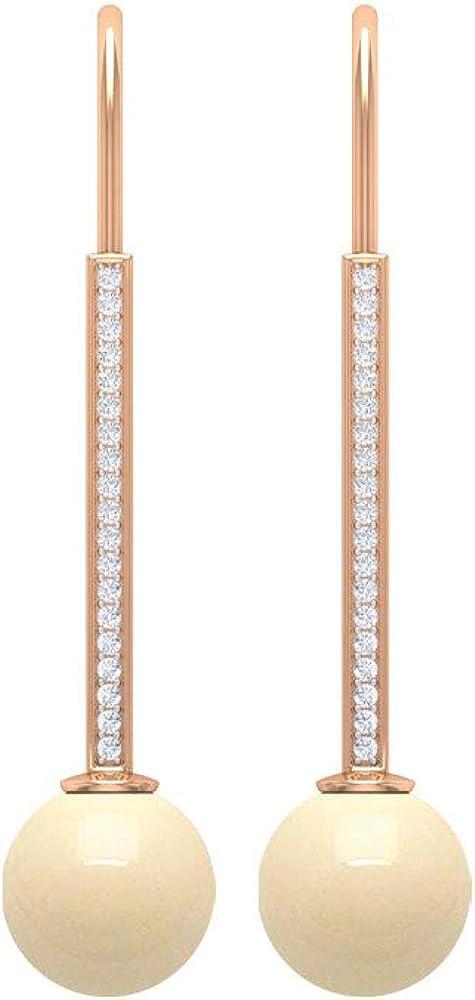 Rosec Jewels - Bar Drop Earrings 8 Japanese MM Akoya Pearl Japan's largest assortment shop