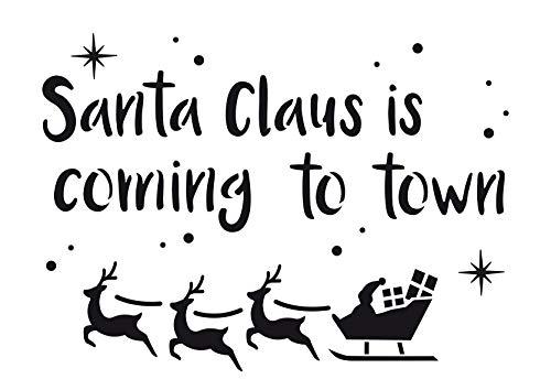 Viva Decor Schablone Santa Claus schablonieren Weihnachts-Motive Dekorativeschablone