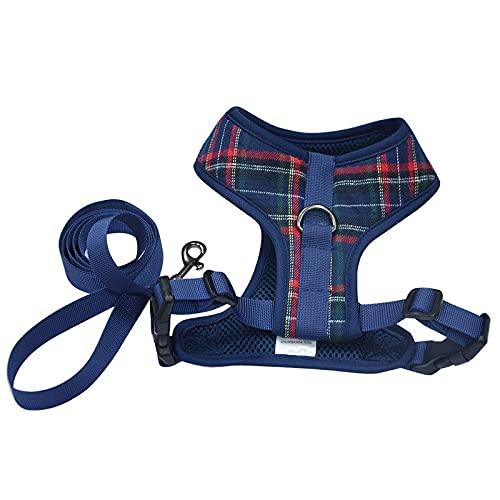 Arnés para perros Pet Supplies Leash Set Dog Harness Dog Vest Pet Leash Polyester Brace Chest Strap Buckle Design Can Adjust The Bust Size Arnés para gatos (Color : Blue, Size : X-large)
