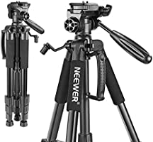 Neewer Portable 56 inches/142 Centimeters Aluminum Camera Tripod with 3-Way Swivel Pan Head,Bag for DSLR Camera,DV Video...