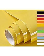 Hode Papel Adhesivo para Muebles Vinilos Decorativos Adhesivo para Muebles Puertas Ventanas Pegatina de Vinilo Adhesivo Muebles con Brillo 60X500cm