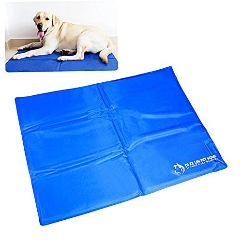 Alfombra Refrescante para Perro Alfombrilla de Refrigeración para Animales de Compañía Alfombrilla refrescante para Mascotas (Azul50*90CM)