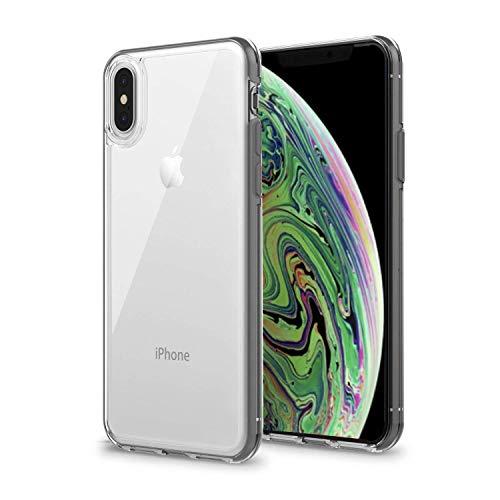 Artifit iPhone X Hülle, iPhone XS Handyhülle, Silikon Transparent Schutzhülle mit stoßfestem Bumper, Ultra Hybrid Silikonhülle aus TPU TPE PC, Spacegrau [5,8 Zoll]