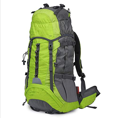 Hiking Backpack 50L Mountaineering Backpack with Rain Cover for Men Women,Tear And Water-Resistant Ideal for Camping Climbing Biking,Green