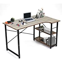 """Seatzone 47"""" L-Shaped Computer Desk with Storage Shelves"""