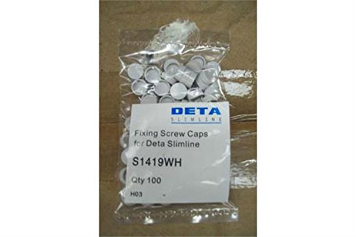 Pack of 100 x Deta S1419WH Spare Screw Cap Covers for Slimline Range...
