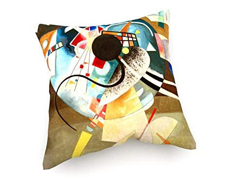 weewado Wassily Kandinsky - EIN Zentrum - 1924 40x40 cm Sofa-Kissen aus Satin - Kunst, Gemälde, Foto, Bild auf Kissen - Alte Meister/Museum