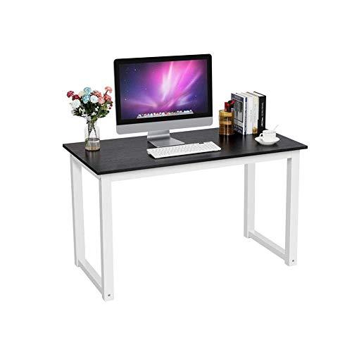 Equipo Escritorios para computadora Mesa para computadora Oficina en casa Escritorio para Escribir Mesa para PC Hecha de Madera y Pintura anticorrosiva Marco de Acero para el hogar Sala de Estar