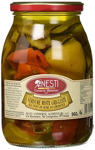Nesti Conserve Alimentari Verdure Grigliate all' Olio di Girasole - Pacco da 6 X 960 g
