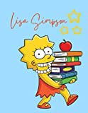 Lisa Simpson Notebook: Lisa Simpson Notebook Large Size 8.5in x 11in x 110 pages