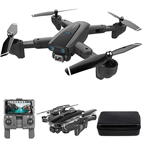 MRSDBTL GPS Drone, 2.4G WiFi FPV RC Drone con cámara 4K HD Fotos de Gestos Video, Regreso automático a casa, Retención de altitud, Sígueme RC Quadcopter para Adultos con Bolso,1 Battery