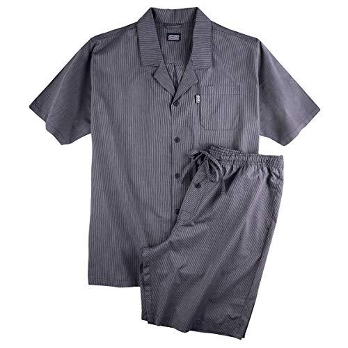 Jockey kurzer Pyjama Navy-weiß gestreift Übergröße, XL Größe:4XL