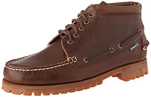Sebago Ranger Mid Waxy, klassische Stiefel & Stiefeletten für Herren, Braun - Braun Dk Brown Gum 930 - Größe: 46 EU
