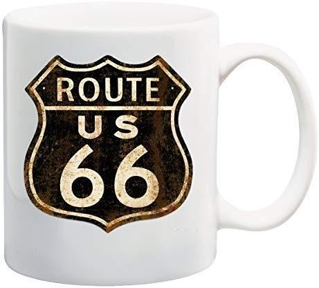 Rael Esthe Ruta 66 Taza descolorida Novedad Divertida Taza de café Taza de té 11 oz