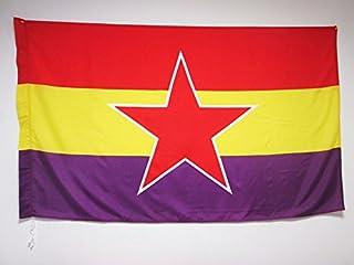 AZ FLAG Bandera ESPAÑA Republicana Estrella del EJÉRCITO Popular 150x90cm para Palo - Bandera DE LA Republica ESPAÑOLA 90 ...