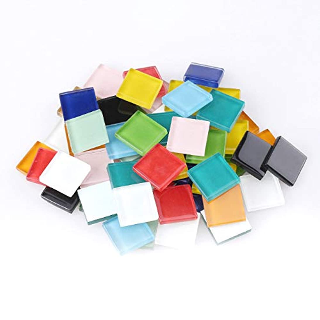 UW Pieces Mosaic Tile Square Shape Assortment with Various Color Perfect Match in Artcraft Making and Home Decorations(20mm per Piece,1000g/2.2lb