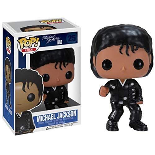 CJH Michael Jacksonin mantel van zwart leer: Pop. Populair en cartoon, mooie pvc-figuur, prachtige verpakking, beste collectie voor Michael Jackson fans, grootte: 10 cm